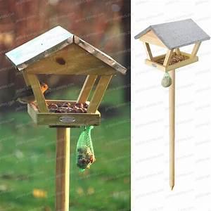 Mangeoire Oiseaux Sur Pied : maison oiseaux sur pied ~ Teatrodelosmanantiales.com Idées de Décoration