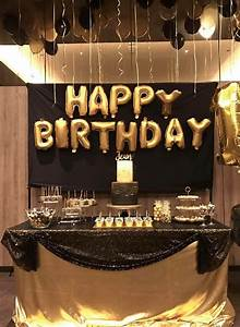 Dessert, Table, For, Black, And, Gold, Birthday, Party, Theme