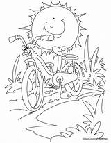 Coloring Bicycle Bike Pages Safety Mountain Sun Cartoon Sheets Summer Racing Printable Riding Against Activity Bestcoloringpages Fun Colors Books Popular sketch template