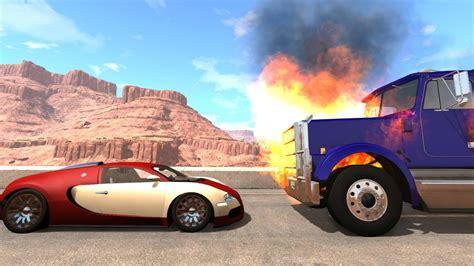 Download bugatti veyron beamng.drive mods #001. Bugatti vs Burning Truck - BeamNG drive - YouTube
