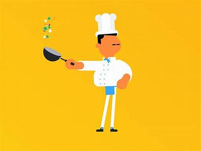 Chef Dribbble Motion Tinder Animated Animation Characters
