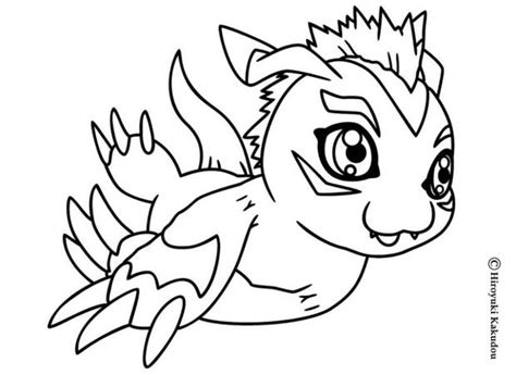 Gomamon Digimon Coloring Pages