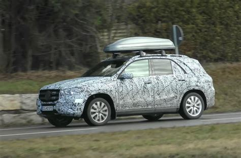 mercedes benz gle spotted   camouflage video