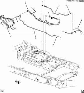Chevrolet Suburban Hose  Fuel Tank Evaporator  Purge