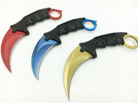 cs go counter strike claw karambit knife neck knife with sheath tiger tooth real knife