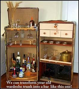 A RANDALL BARBERA design! A wardrobe trunk converted into ...