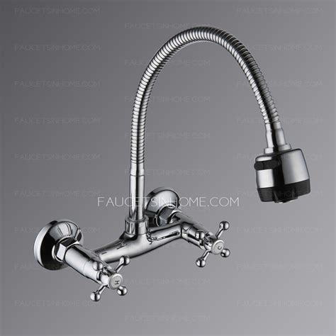 wall mount kitchen sink faucet two wall mount style kitchen faucet 8875