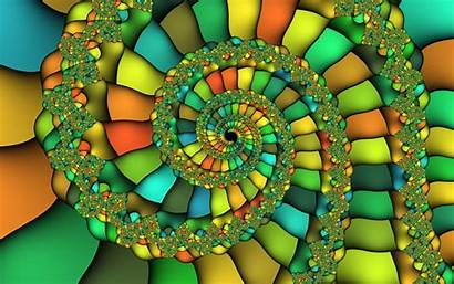 Colorful Fractal Swirl Abstract 3d Wallpapers 1200