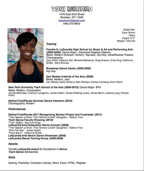Dancers Resume by Dancer Resume Layout Http Www Resumecareer Info Dancer