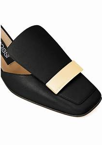 Nicholas Kirkwood Size Chart Sergio Rossi Women 39 S Black Leather Slippers Shoes