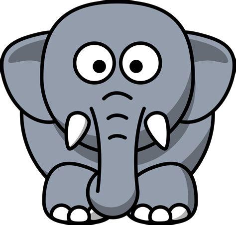 elephant cartoon drawing clipart