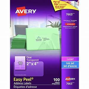 avery clear label 2x4 100 pkg 31983 00 7663 With avery 2x4 clear labels