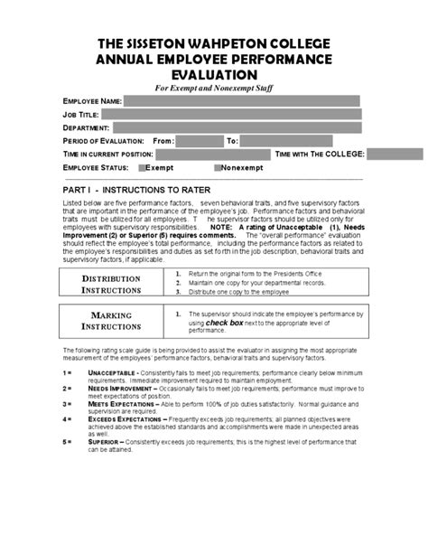 annual employee performance evaluation
