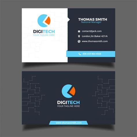 business card   technology business  vector