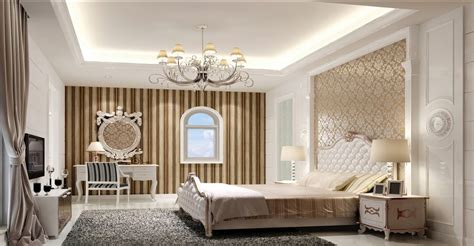 Modern European Elegant Bedroom Interior Design Download