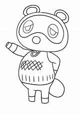 Crossing Animal Nook Tom Coloring Nintendo Copyright sketch template