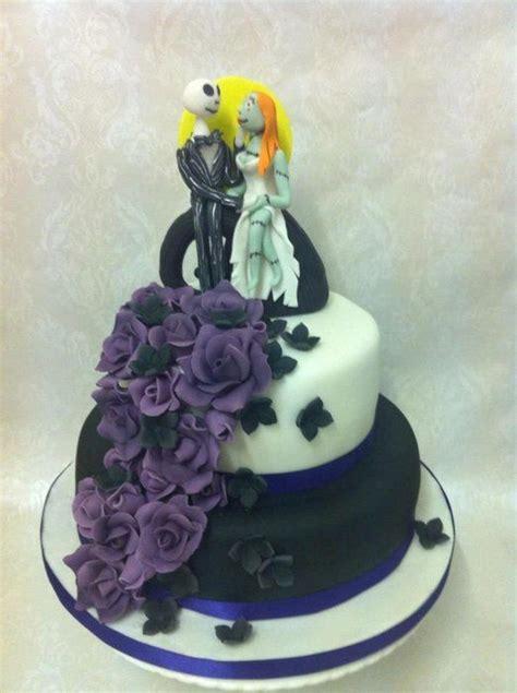 alternative wedding cake tim burton jack  sally