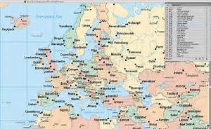 Map Of Europe Showing Major Cities | Travel Maps and Major ...