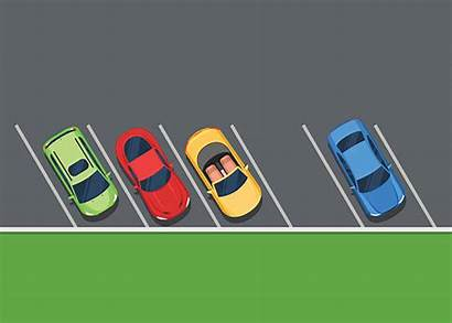 Parking Lot Parked Cars Clipart Vector Empty
