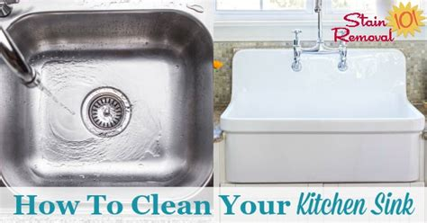 how to clean a stained sink how to clean kitchen sinks hints and tips