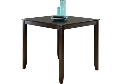espresso counter height table sunset view espresso square counter height table dining