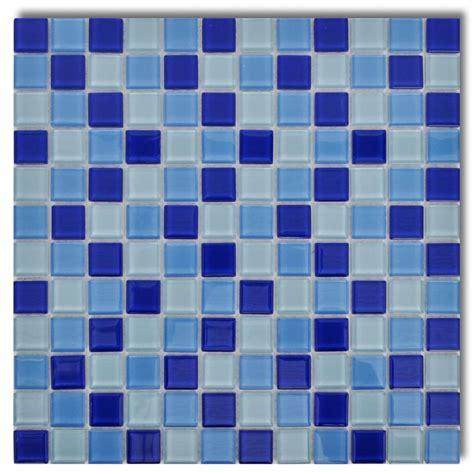 20x Glass Mosaik Fliesen Blauweiß 1,8 Qm Günstig Kaufen