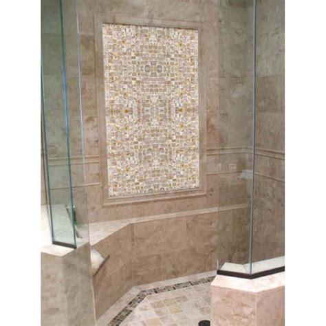 mosaic shower tile of pearl tile shower wall and floor backsplash