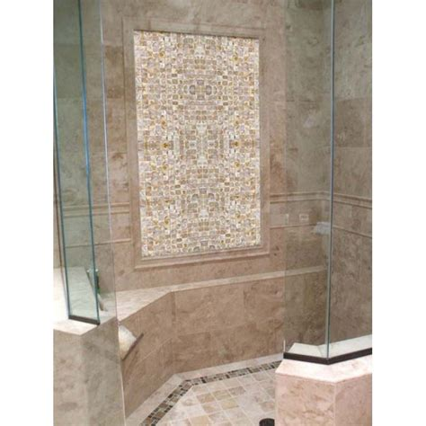 Mother Of Pearl Tile Shower Wall And Floor Backsplash. Bay Window Treatment Ideas. Stove With Red Knobs. Industrial Table Base. Surplus Granite. Custom Loft Beds. Shallow Sink. Crystal Sconces. California Native Trees