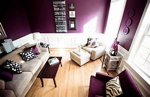 Awesome, Purple, Living, Room, Wall, Color, Ideas, 19510