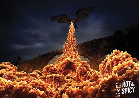 clever ads  kfc show  hot spicy  chicken