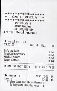 Italienisch Rechnung : martins m nchner fr hst cks f hrer ~ Themetempest.com Abrechnung