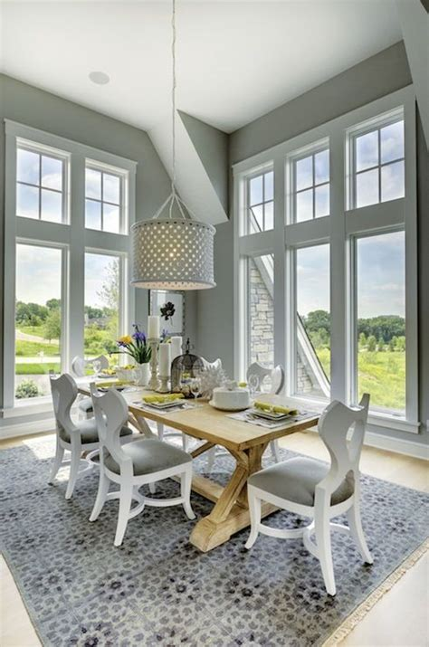 floor length windows stunning dining room with floor length picture windows framed by gray walls over light hardwood