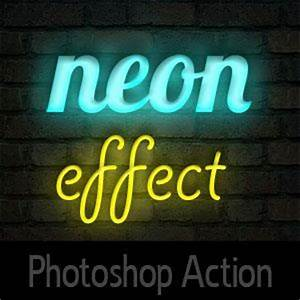 Neon Styles and PSD Mockups for shop