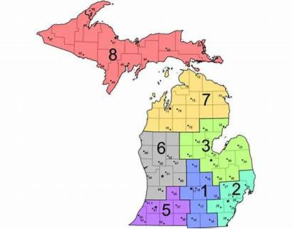 Michigan State Map Police Health District Emergency