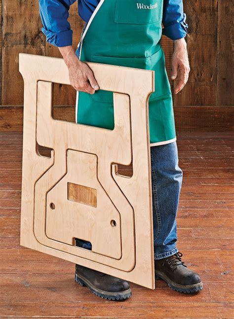 fold flat sawhorses woodworking project woodsmith plans