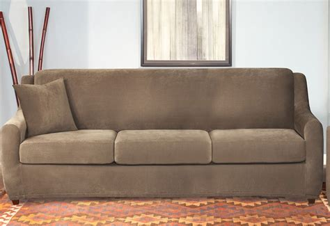 Slipcover For Sleeper Sofa by Stretch Pique Four 3 Seat Sleeper Sofa Slipcover