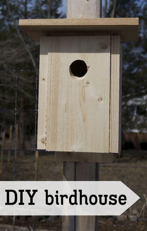 diy simple bird house outlaw garden