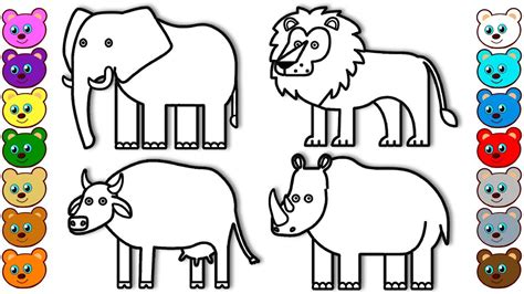 coloring  kids  animals  india colouring book