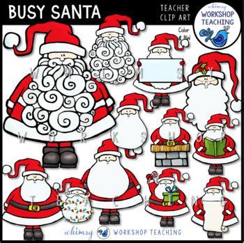 busy santa clip art  whimsy workshop teaching tpt