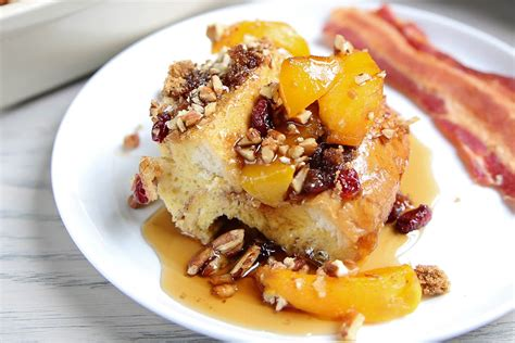 Peach French Toast Bake Recipe Instructions Del Monte