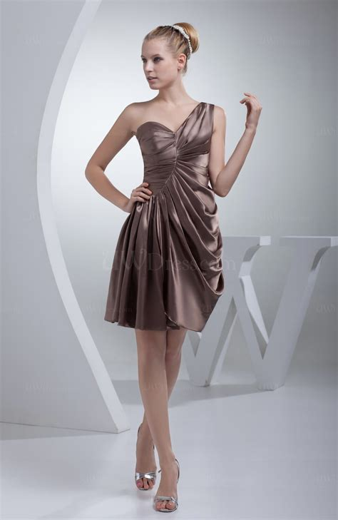 Draped Satin Dress - cameo a line sleeveless zip up silk like satin