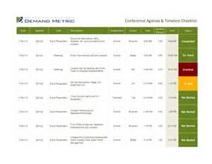 Project Gantt Chart Template Excel Conference Agenda Timeline Checklist