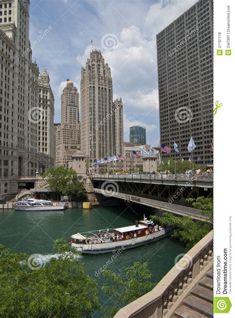 Free Boat Rides In Chicago by Boat Ride On The Chicago River Editorial Stock Photo