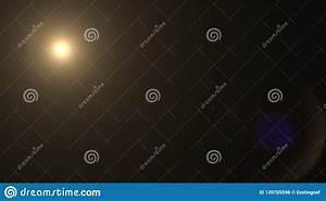 Lens, Flare, Effect, On, Dark, Background, Digital, Illustration