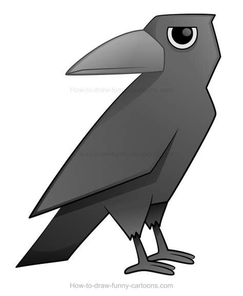 draw  cartoon crow