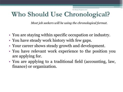 Chronological Resume Ppt by Ppt Resume Writing Powerpoint Presentation Id 515670