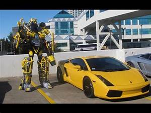 Real Life Transformer Bumblebee Goes To Time Square NYC ...