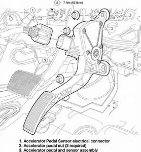 Fig  Removing And Installing The Accelerator Pedal