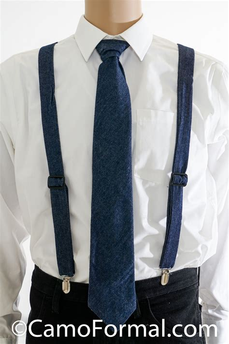 camo suspenders long tie adult camouflage prom wedding