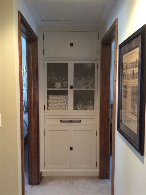 hallway linen closet remove bifold door add
